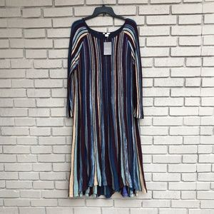 NWT Anthropologie Striped Dress Women's XL